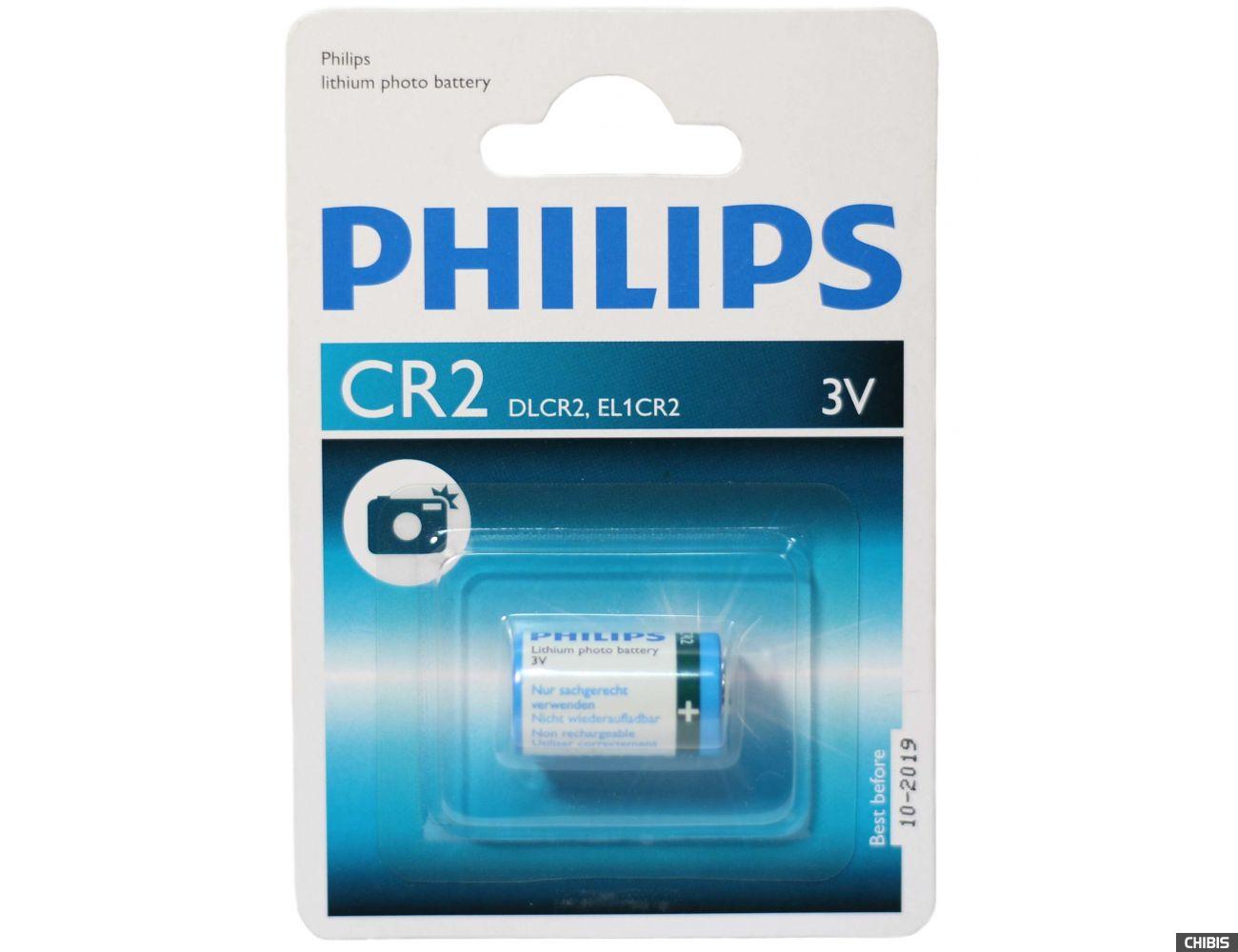 Батарейка CR2 Philips Lithium 3V