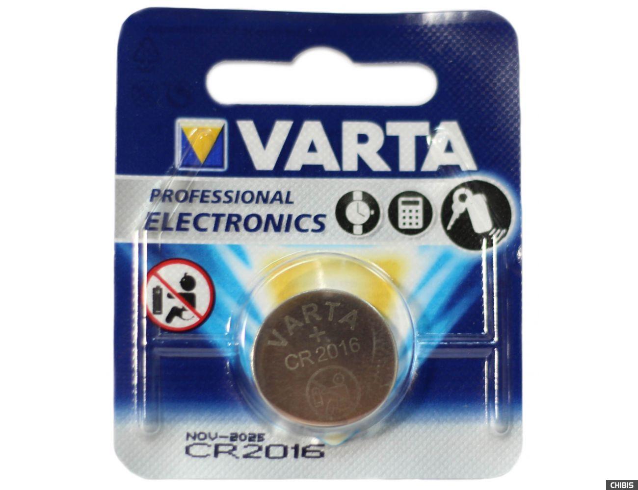 Батарейка CR 2016 Varta Professional Electronics 3V Литиевая 06016101401 1 шт