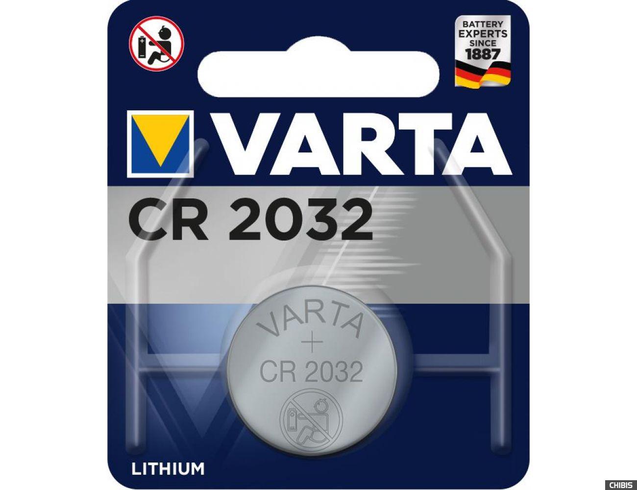 Батарейка CR2032 Varta 3V Литиевая 6032 1 шт.
