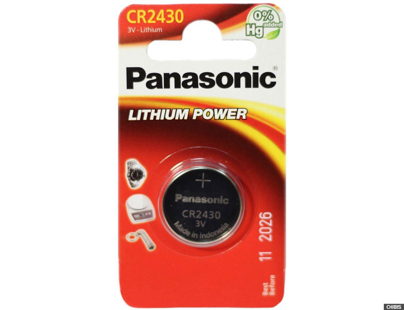 Батарейка 2430 Panasonic CR-2430EL/1B 3V Литиевая
