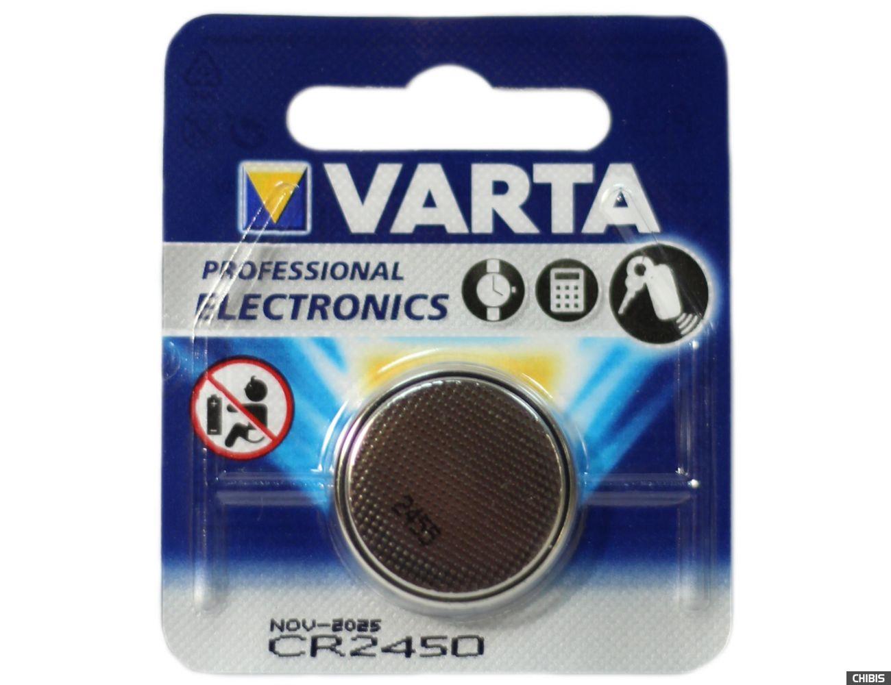 Батарейка Varta CR2450 Professional Electronics 3V