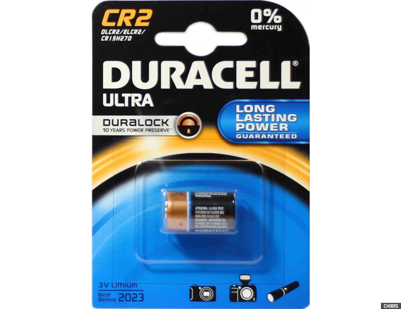 Батарейка Duracell CR2 Ultra 3V Lithium Литиевая) блистер на 1 шт