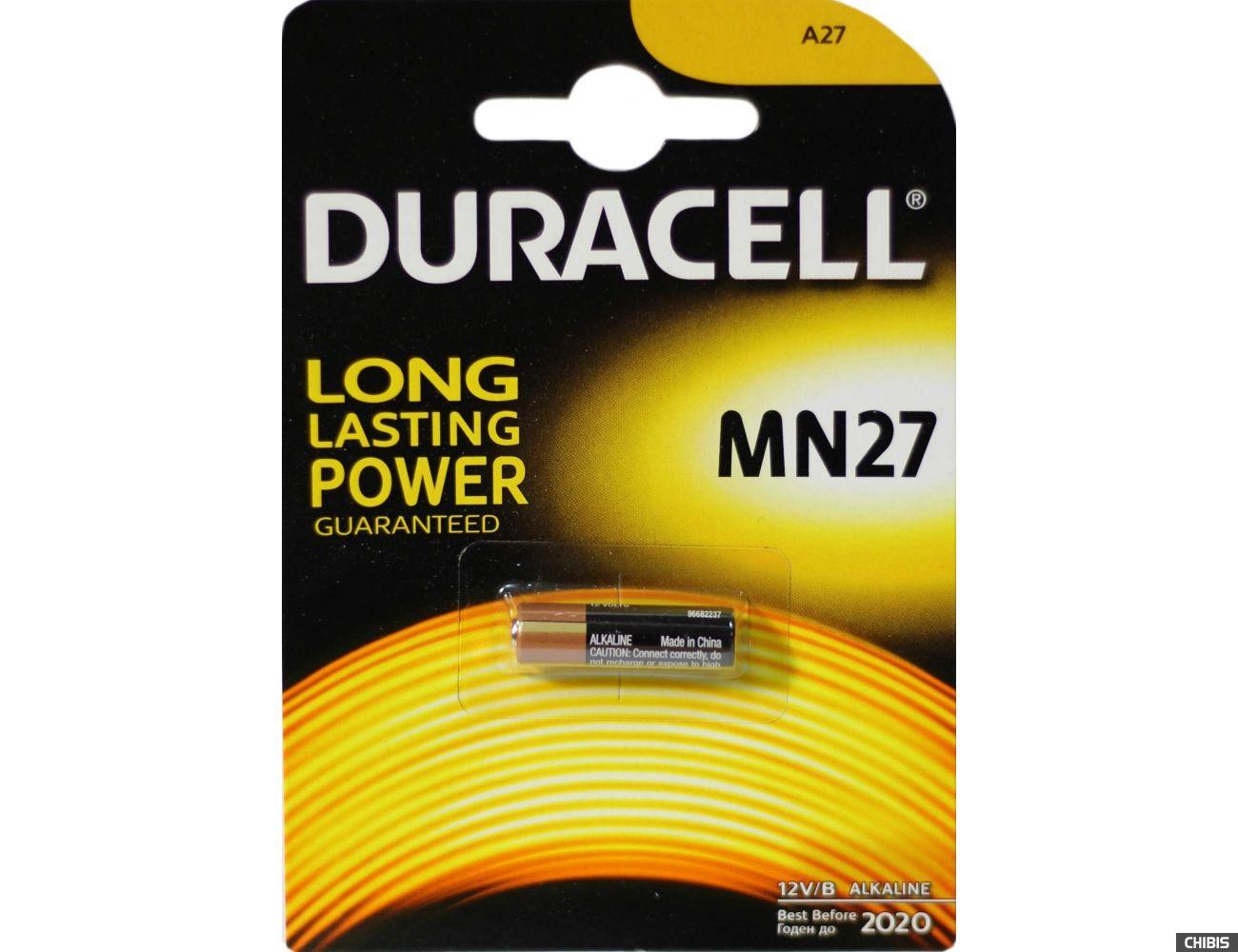 Батарейка MN27 Duracell 12v 1 шт