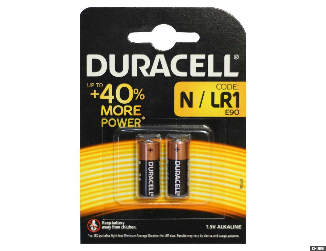 Батарейка N / LR1 Duracell Alkaline 1.5V 2/2 шт