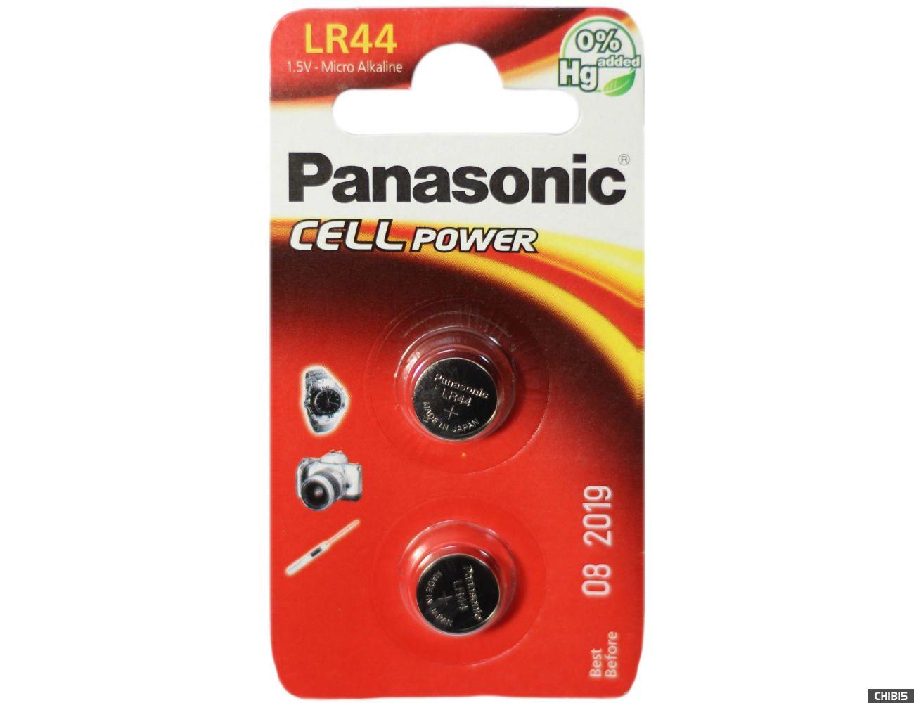 Батарейка LR44 Panasonic AG13 / V13GA Alkaline 2 шт