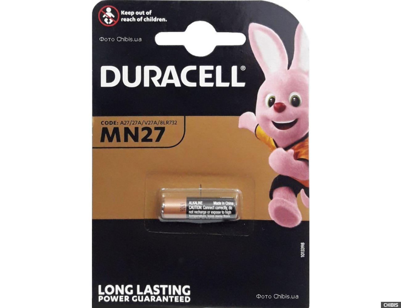 Батарейка MN27 Duracell 12V Alkaline 1 шт.