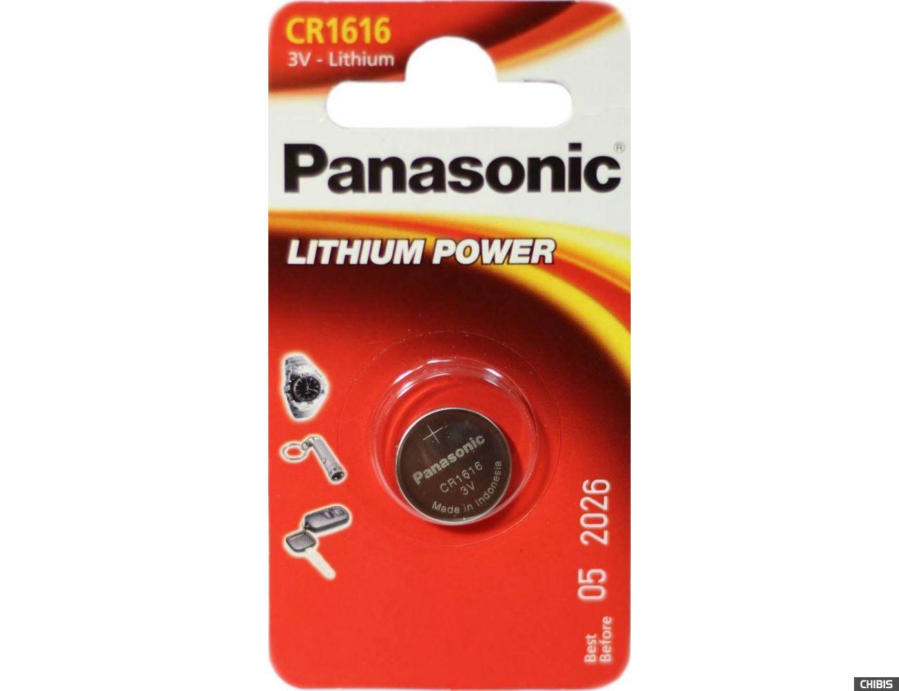 Батарейка CR 1616 Panasonic Литиевая 3V CR-1616EL/1B (Батарейка)