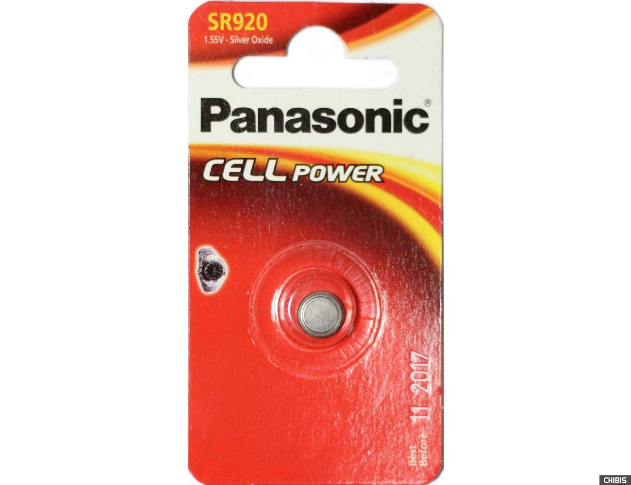 Батарейка Panasonic SR920 / 370 / 371 / SR69 / AG6 / LR920 / RW415 / SR920W / SR920SW блистер 1 шт