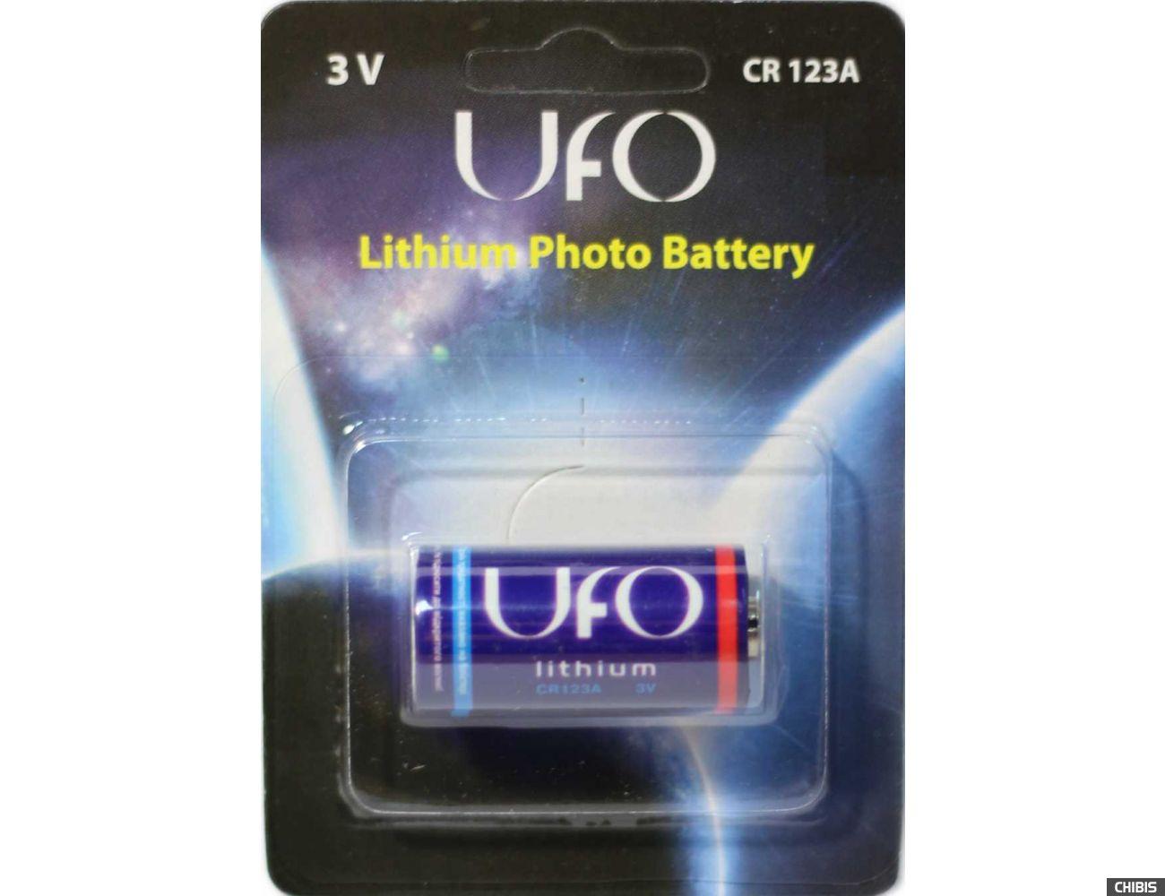Батарейка Ufo CR123 3V Литиевая