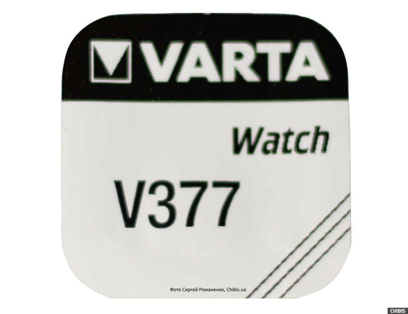 Батарейка Varta V377 / SR 626 SW