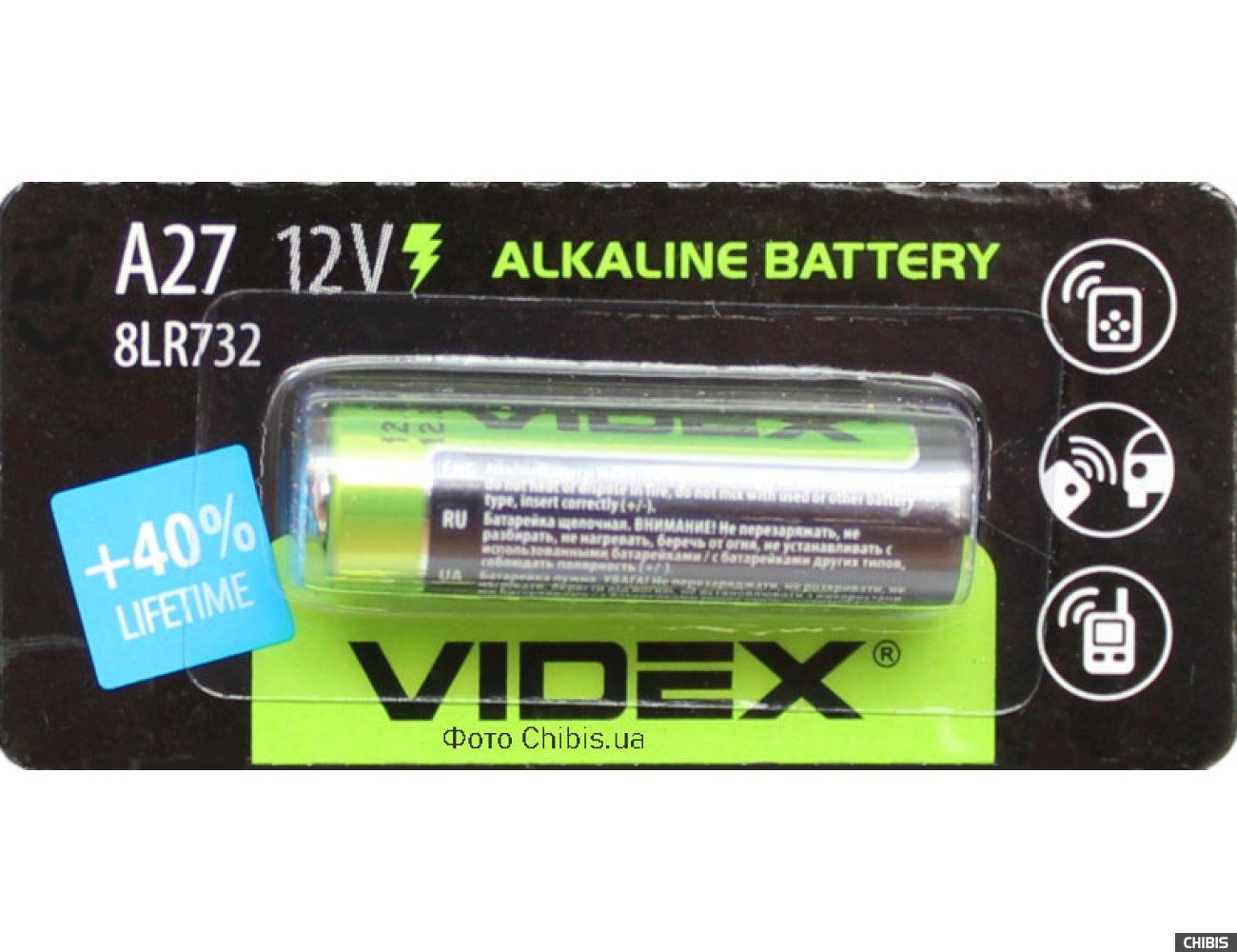 Батарейка A27 Videx Alkaline 12V 1 шт