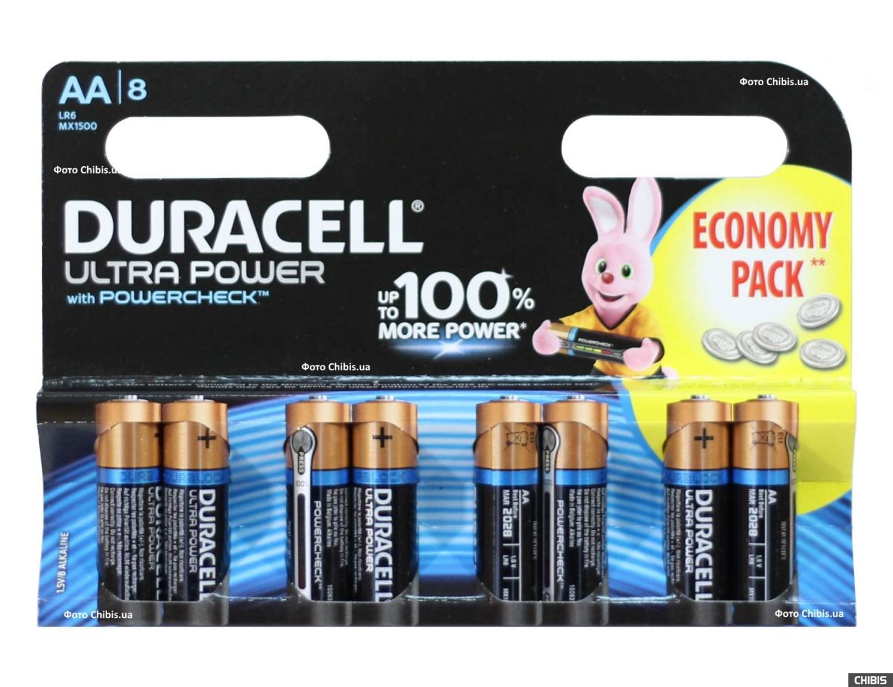 Батарейка АА Duracell Ultra Power LR06 1.5V Alkaline 8 шт
