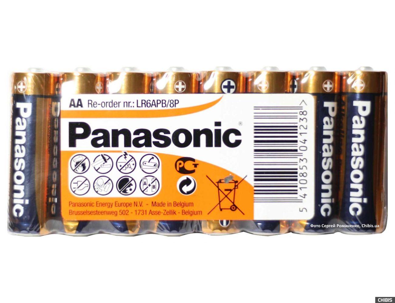 Батарейки Panasonic AA Alkaline Power 8 шт пленка