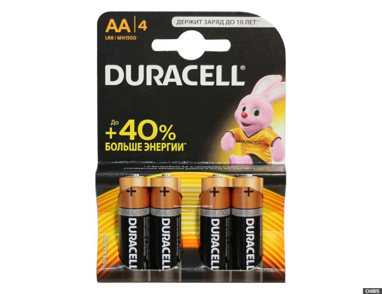 Батарейка АА 1.5V Alkaline Duracell Basic 1/4 шт