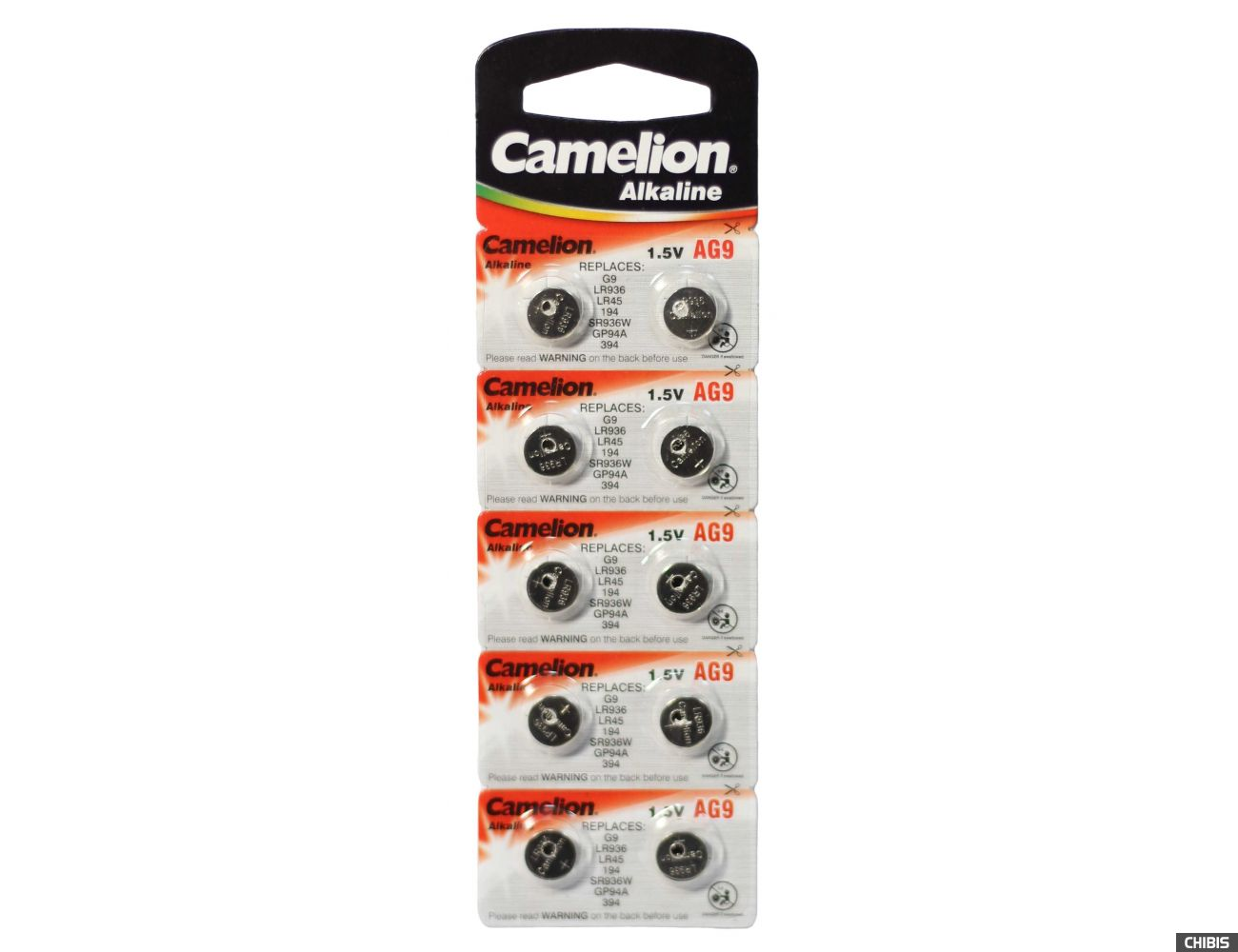 Батарейка для часов 394 Camelion AG9 Alkaline 1.5V