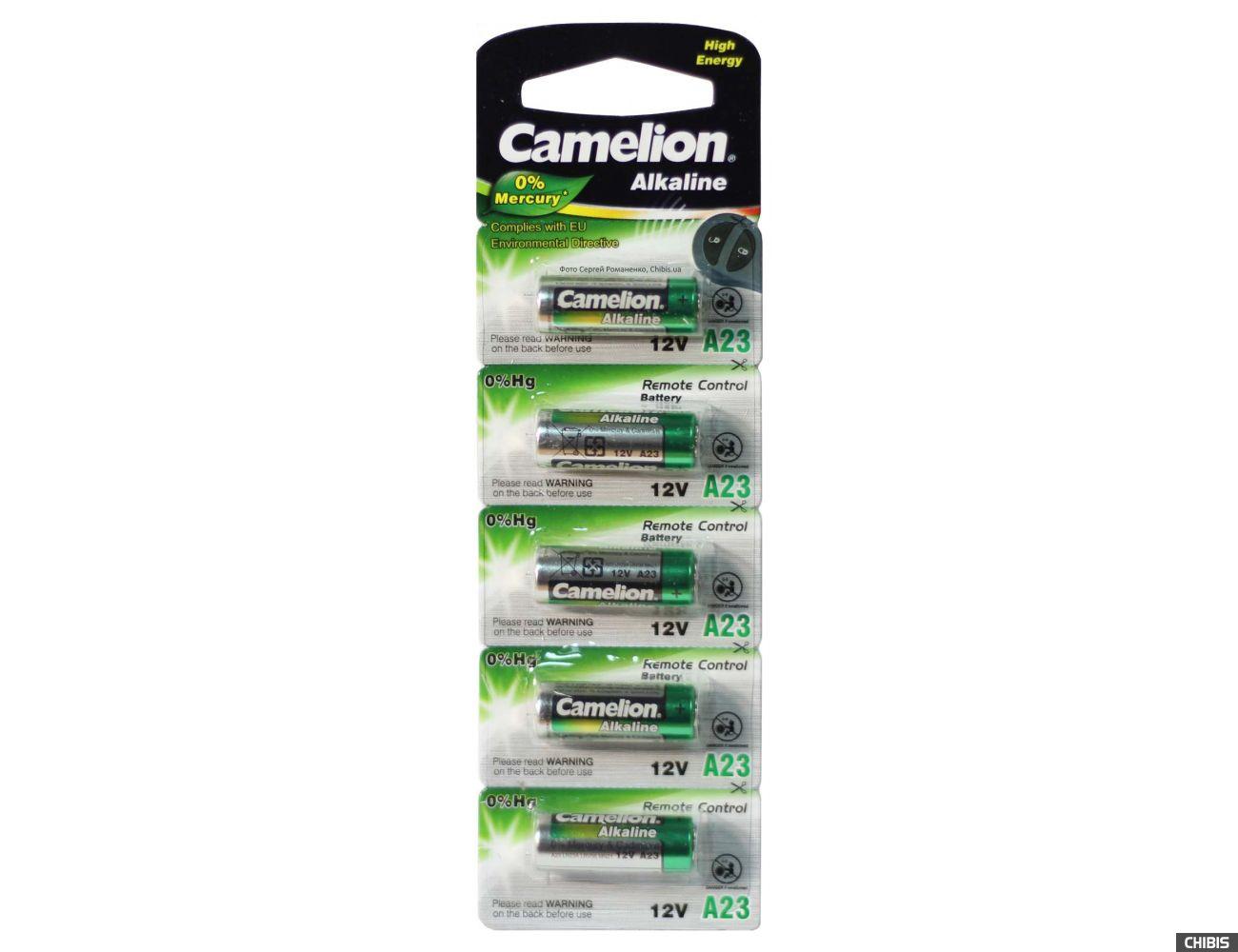 Батарейка А23 (MN21) Alkaline 12V Camelion 23GA L1028 5 шт