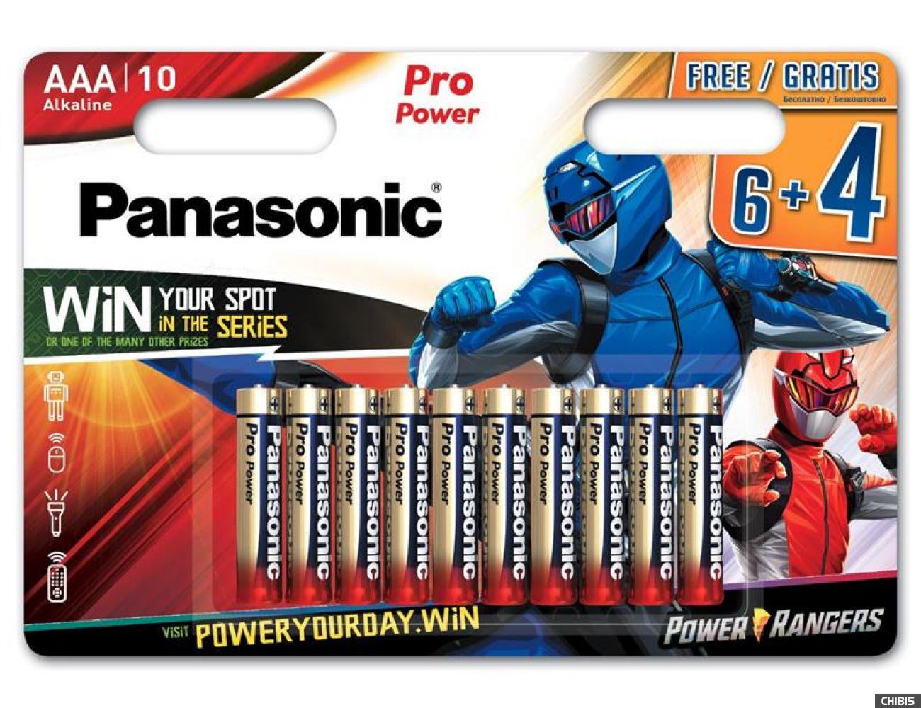 Батарейка Panasonic AAA Pro Power Alkaline 1.5V Power Rangers 10 шт.