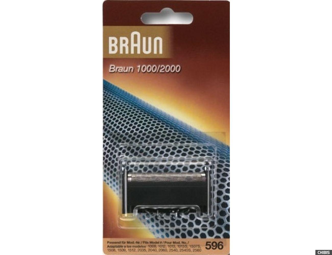 Сетка для бритв Браун серии 1000/2000 № 596 с блоком (совместимый)