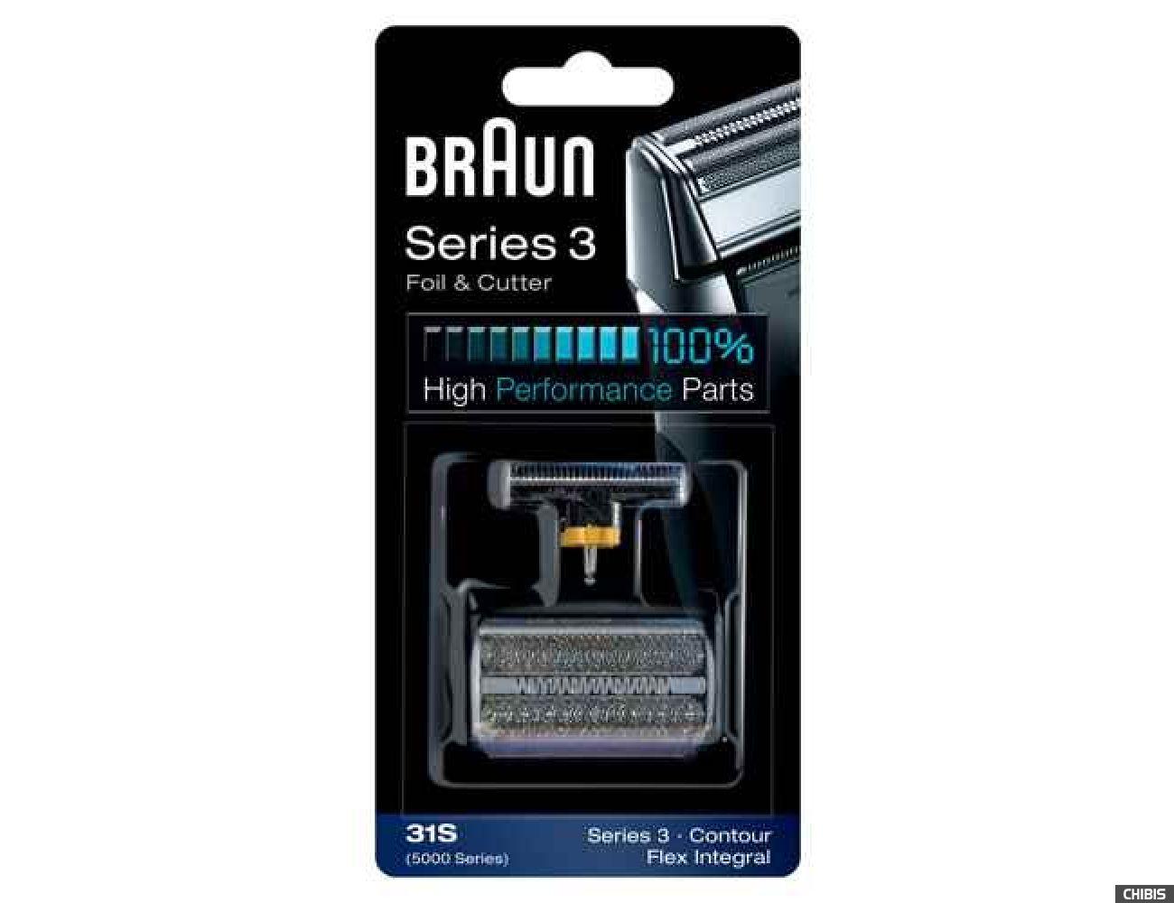 Сетка и режущий блок Braun 5000/6000 Contour/Flex, серебристая 31S (5724764) 4210201574378