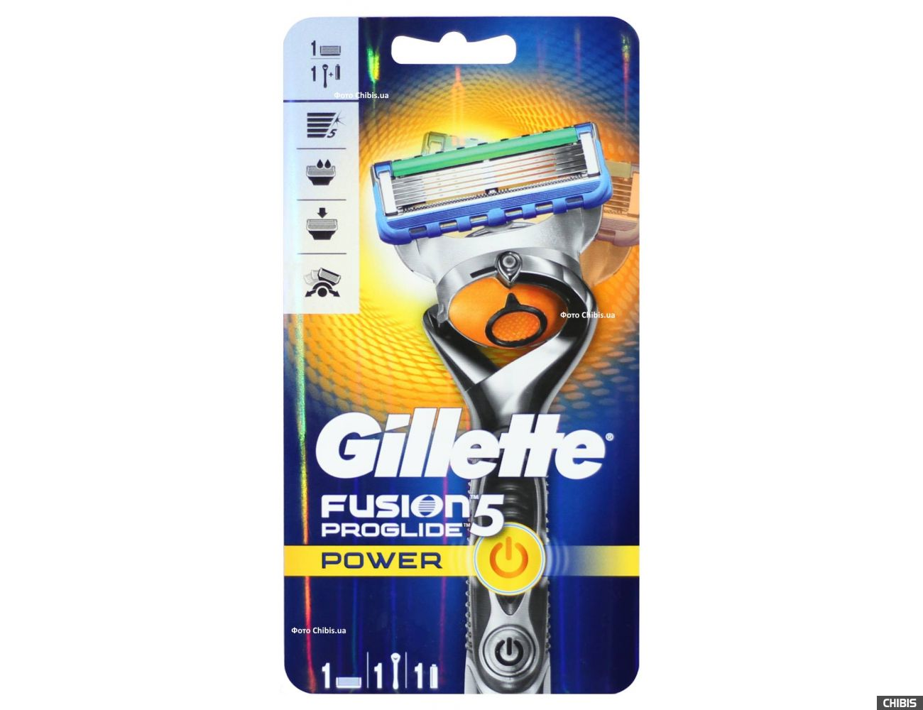 Бритва Gillette Flexball Fusion ProGlide Power с 1 кассетой