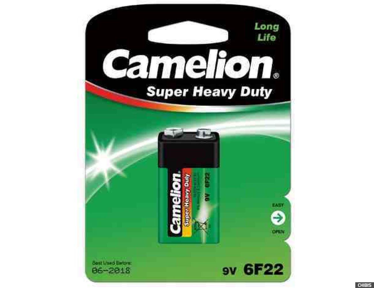 Батарейка Крона Camelion 6F22 марганцево-цинковая 9V блистер 1/1 шт.