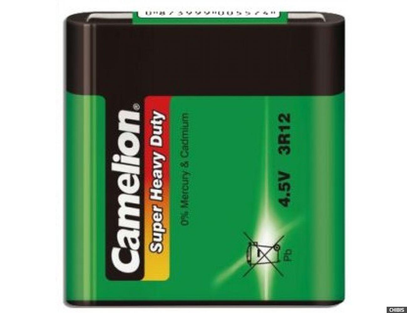 Батарейка Camelion 3R12 марганцево-цинковая 1/1 шт пленка