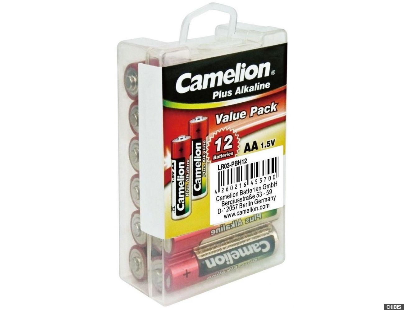 Батарейка АА Camelion Plus Alkaline LR06 1.5V коробка 1/12 шт.