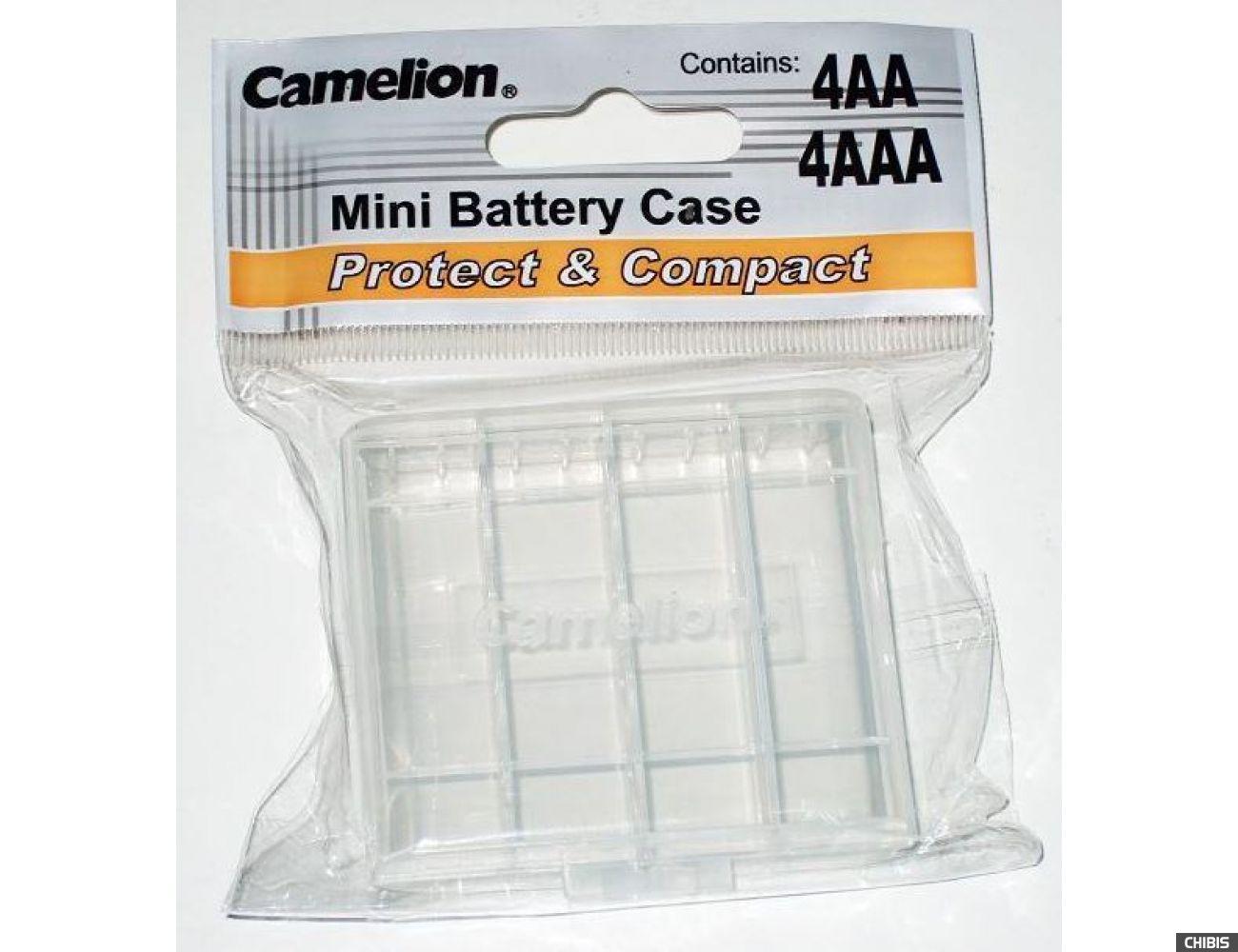 Коробка для батареек и аккумуляторов АА / ААА на 4 шт Camelion пластик