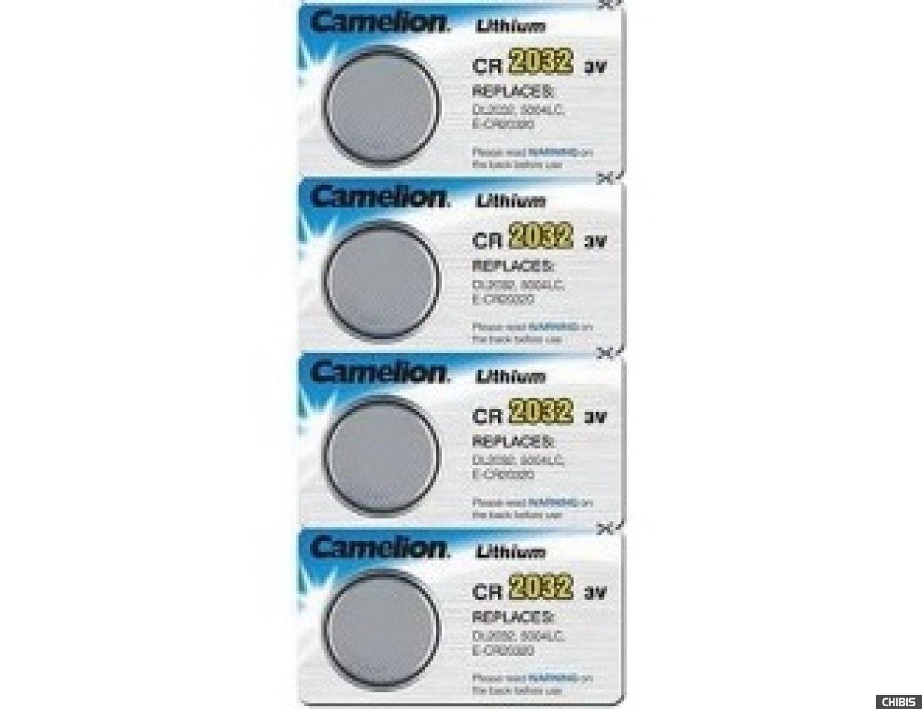 Батарейка CR2032 Camelion Lithium 3В 1/4 шт.