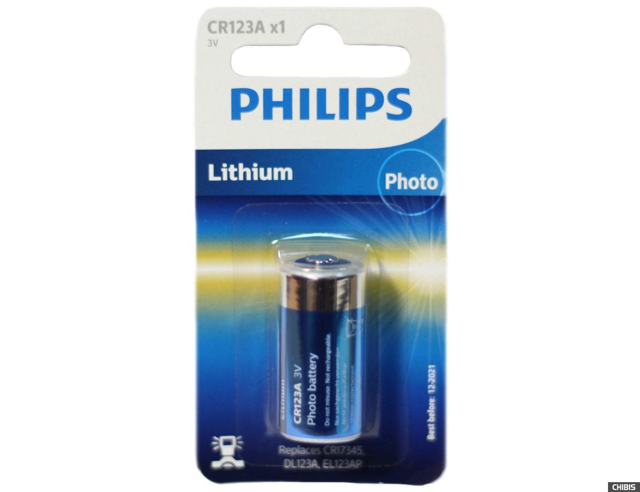 Батарейка CR123-Philips-3v