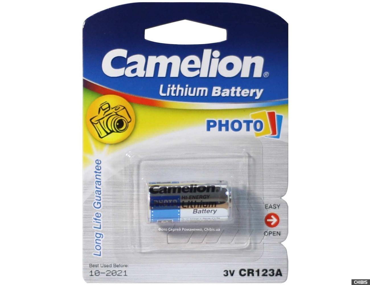 Батарейка Camelion CR 123 Lithium 3V