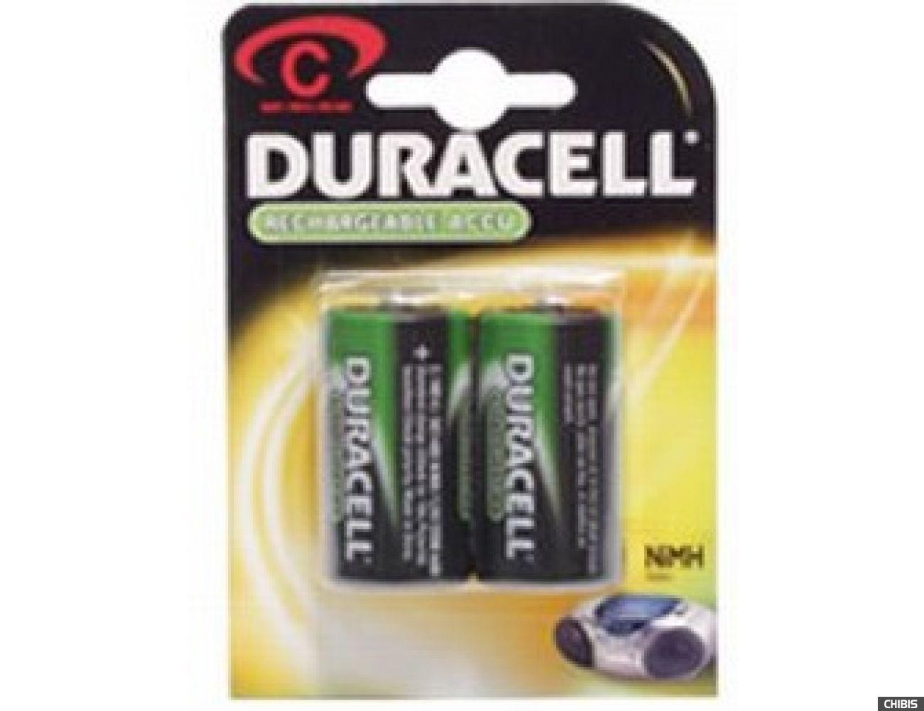 Аккумуляторные батарейки С Duracell 2200 mAh R14, Ni-Mh, 1.2V 2/2 шт. 5000394055988