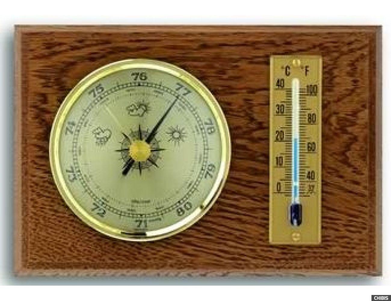 Барометр TFA (451001B) с термометром, дуб