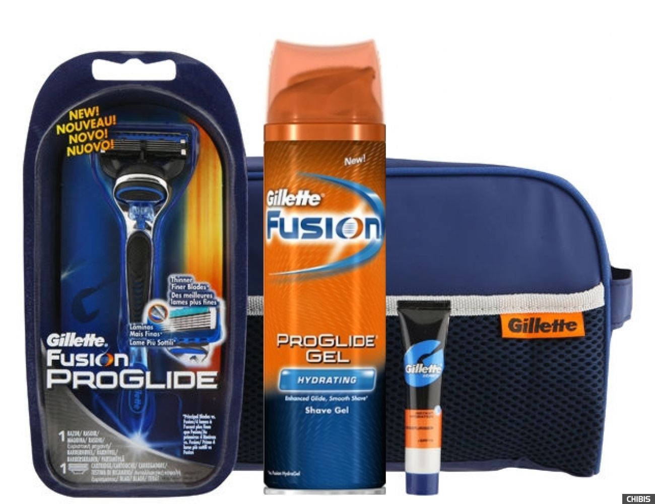 Набор Gillette Fusion ProGlide Power станок+Гель д/б Увл 75 мл.+Бальзам 3в1 9мл  (7702018310999)