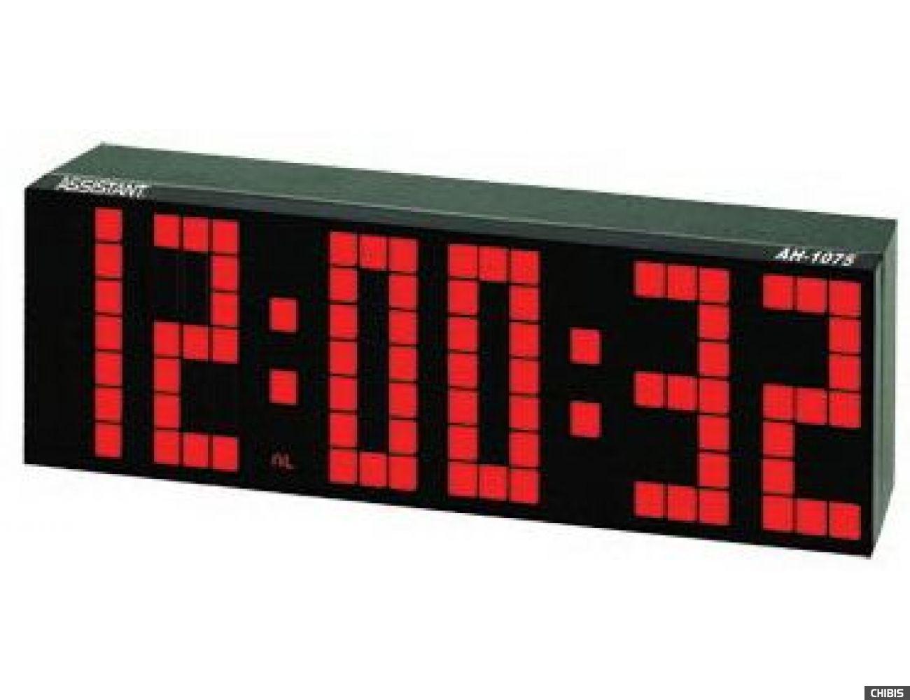 Настольные часы Assistant AH-1075 red
