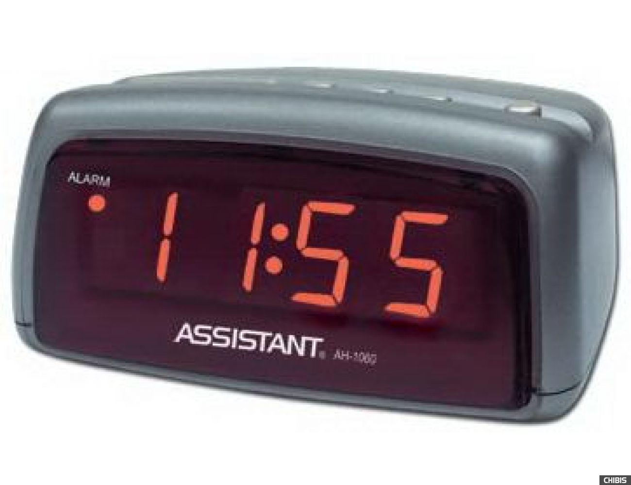 Настольные часы Assistant AH-1060 red