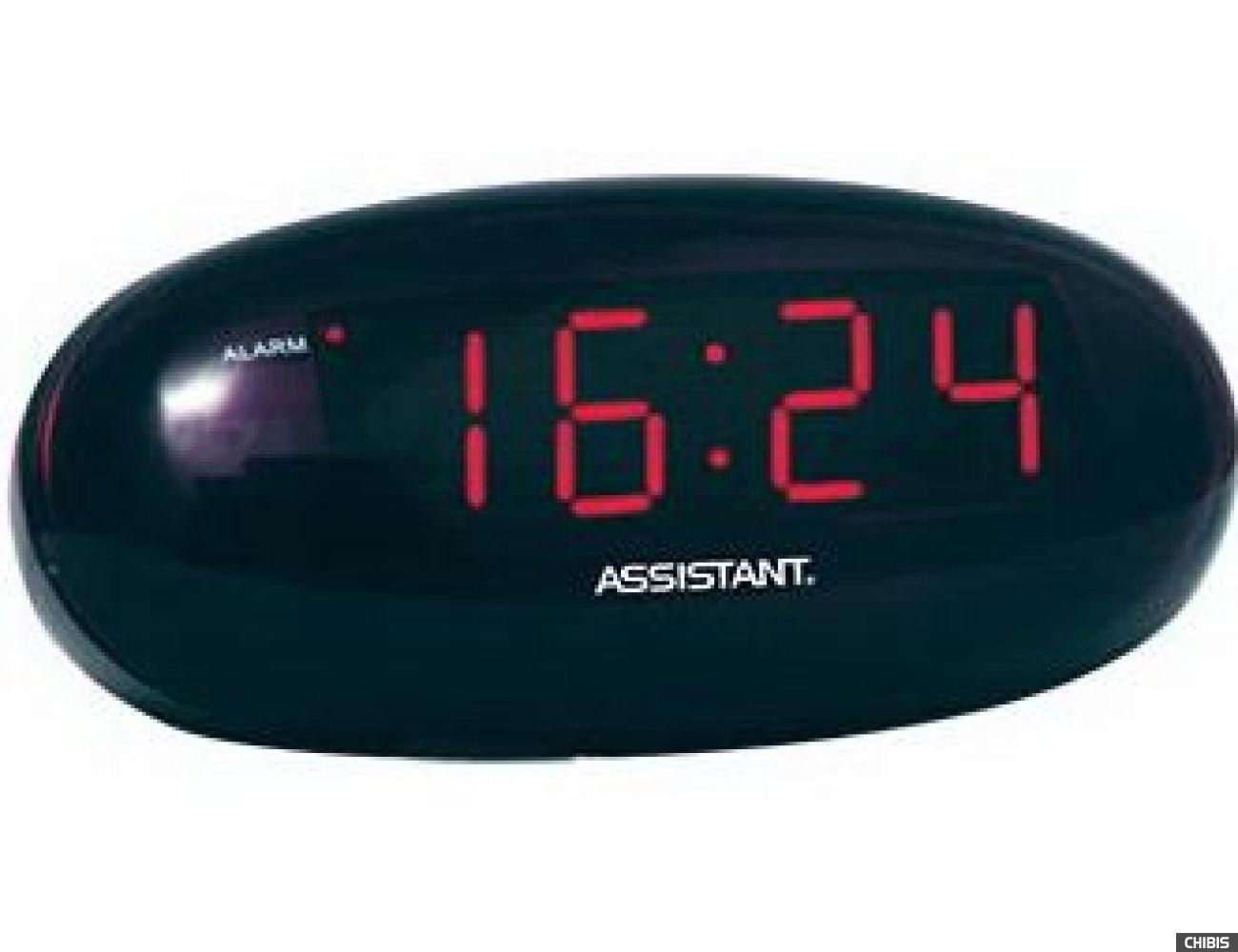 Настольные часы Assistant AH-1024 red