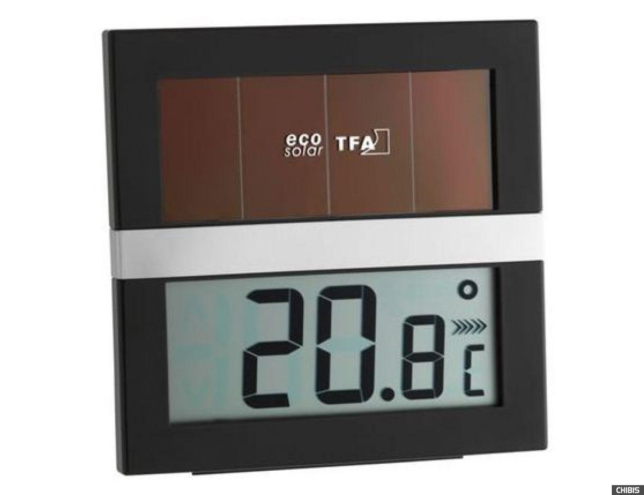 """Термогигрометр TFA """"ECO Solar"""" (305017) работает от солнечных батарей"""
