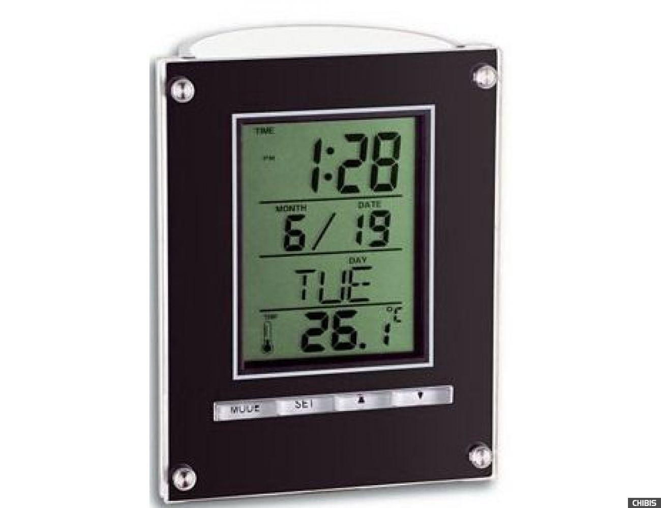 Настольные часы TFA (98107501) черный, 110х85х45 мм