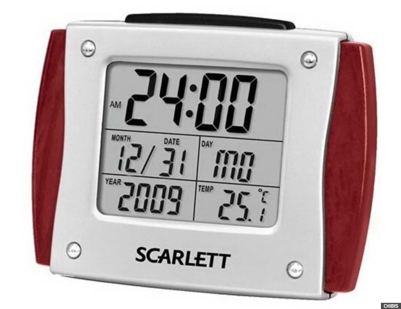 Многофункциональные часы Scarlett SC-892 (бордовый)