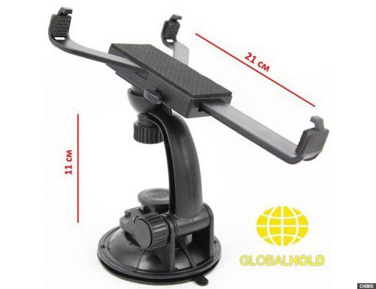 Автодержатель на стекло GlobalHold T01LH для планшетов и навигаторов