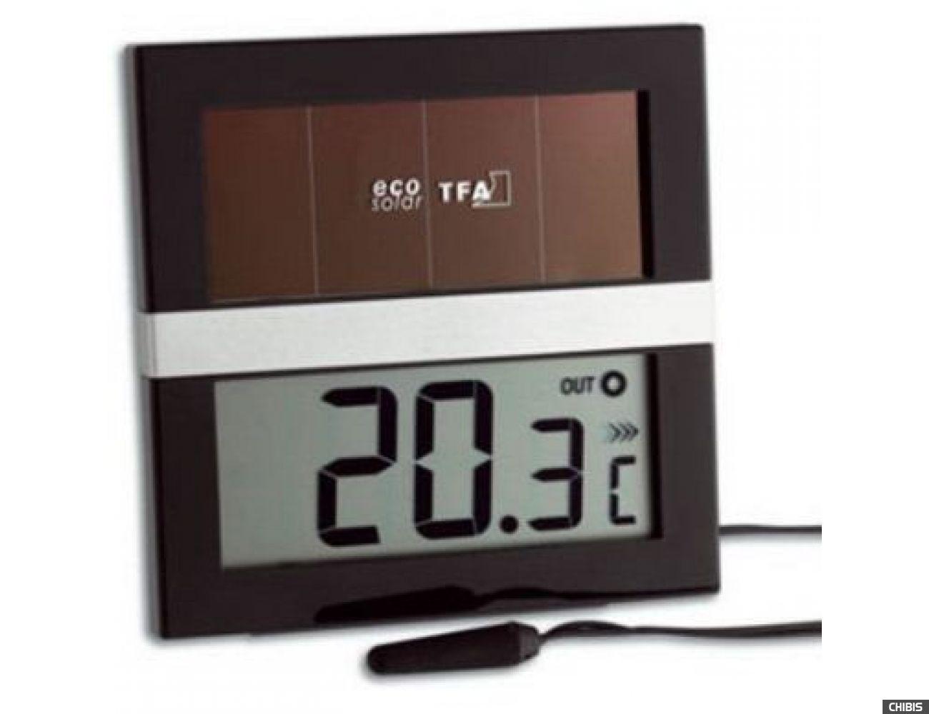 """Термометр TFA """"ECO Solar"""" (301038)  проводной датчик, работает от солнечных батарей"""