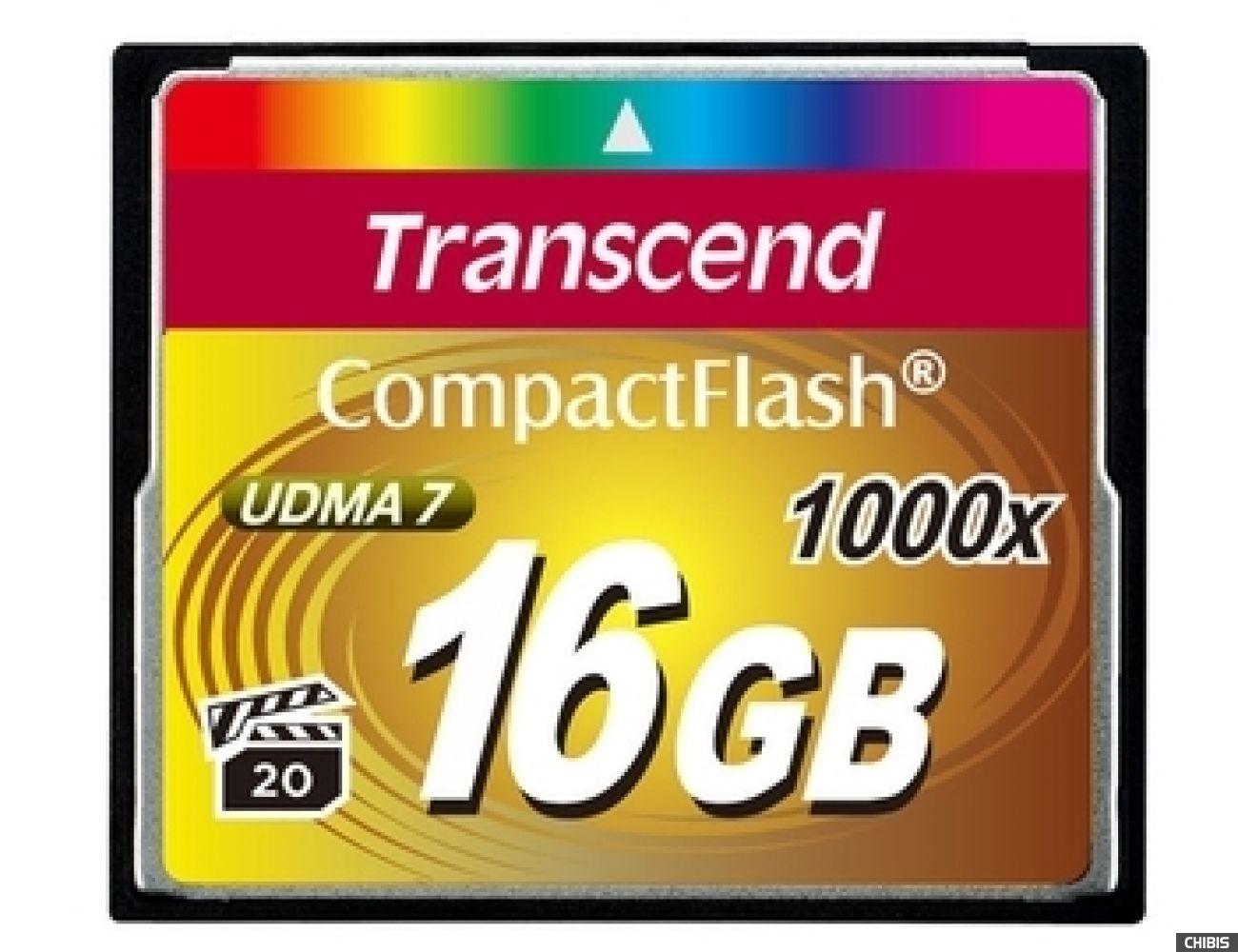 Карта памяти Transcend Compact Flash 1000x 16Gb