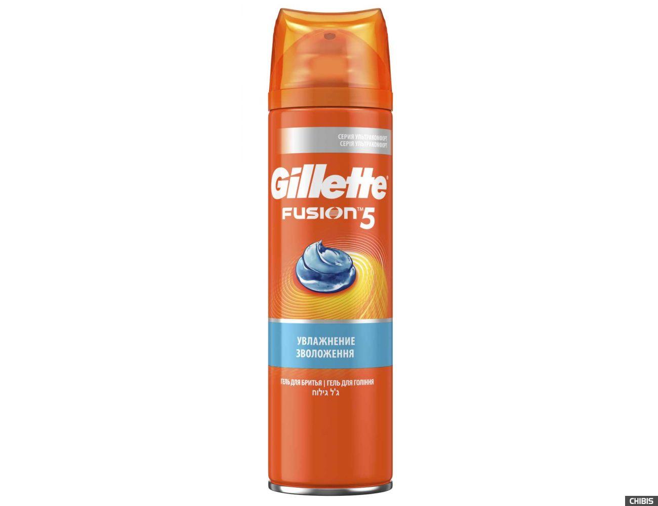 Гель для бритья Gillette Fusion Ultra Mousturizing
