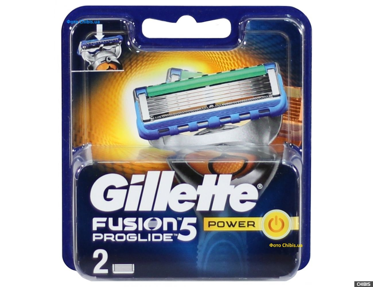 Gillette Fusion ProGlide Power лезвия для станка 2 шт 7702018085927