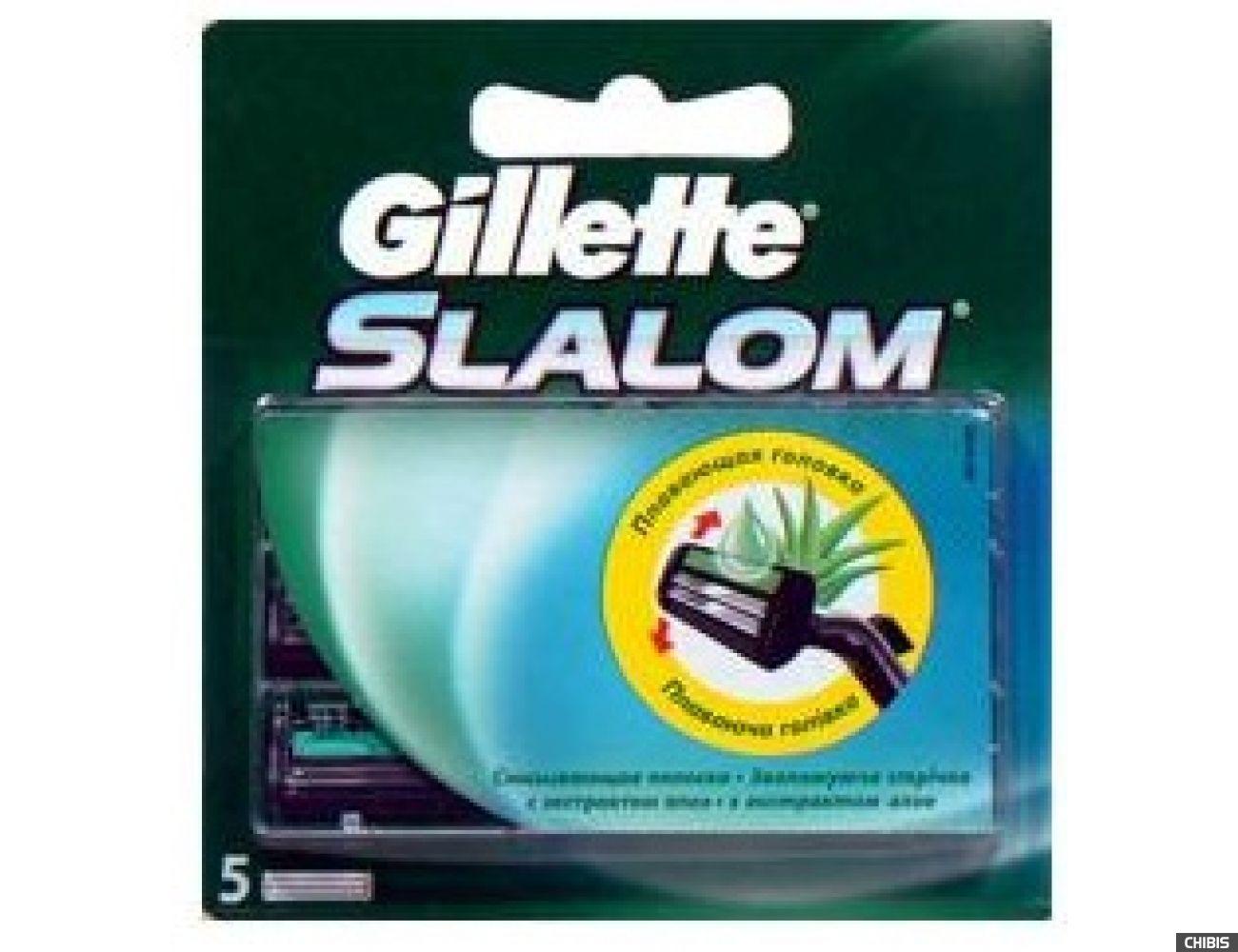 Лезвия для бритвы Gillette Slalom Plus 5шт 7702018867912