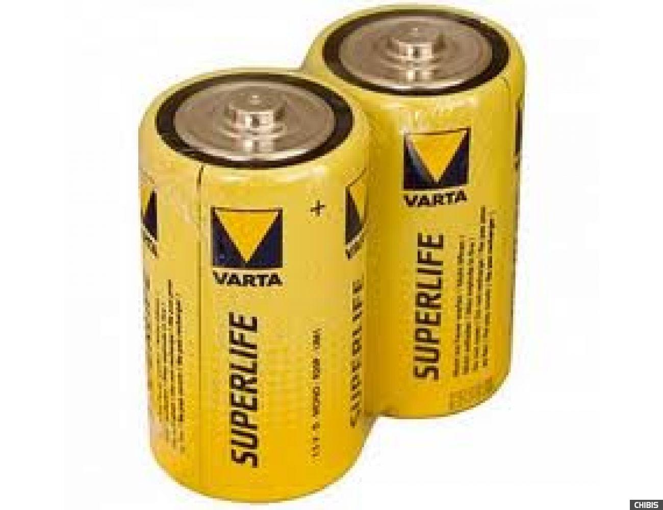 Батарейка Varta C Superlife (LR14, 1.5V Цинково-угольная)