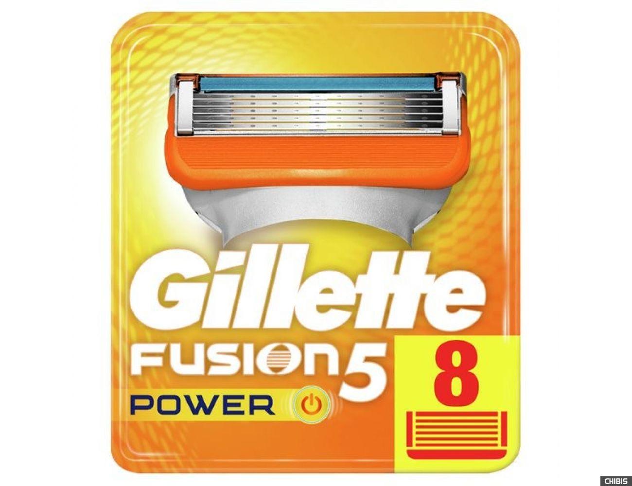 Gillette Fusion Power лезвия для бритвы 8 шт 7702018877621