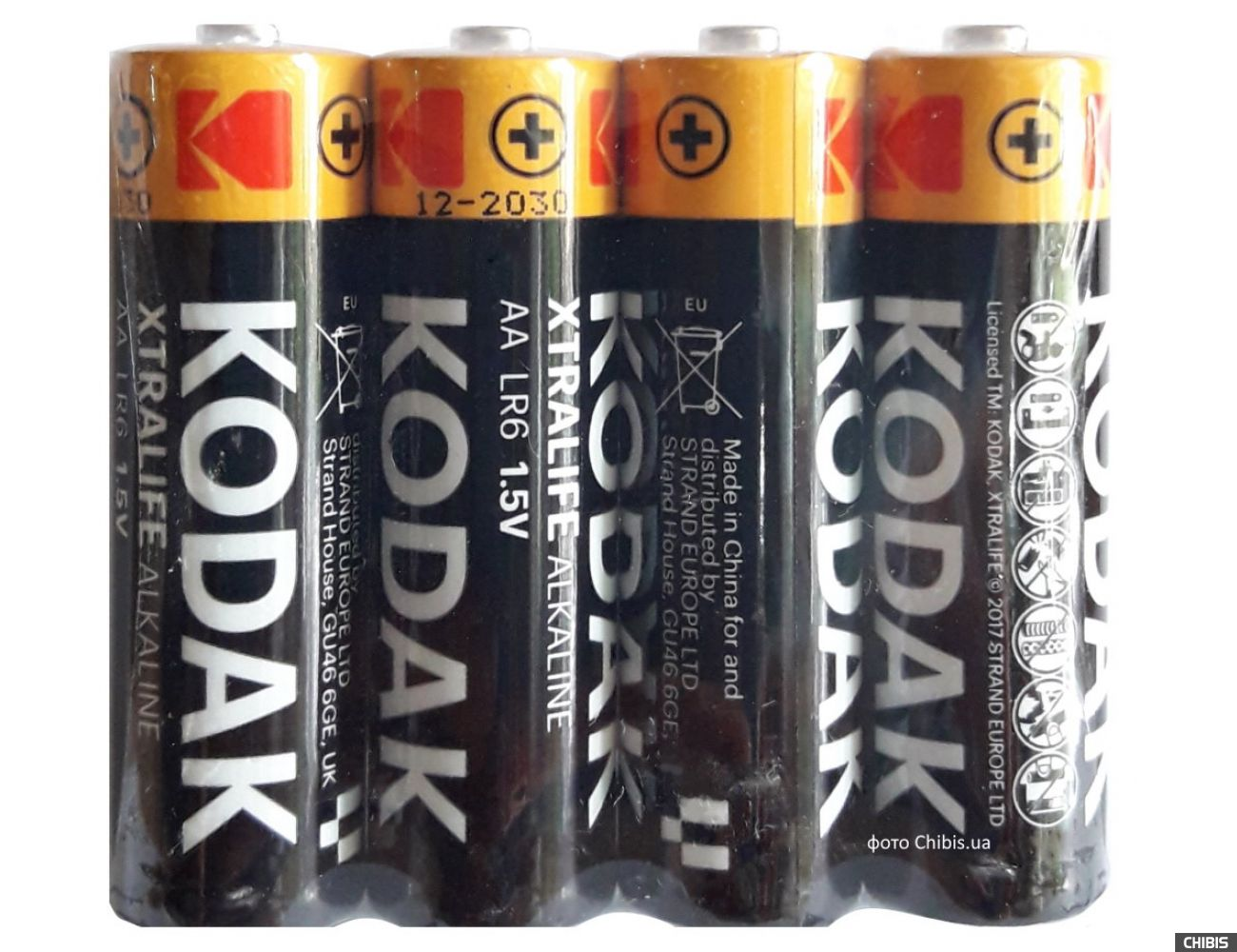 Батарейка AA Kodak XTRALIFE LR06 4 шт. пленка