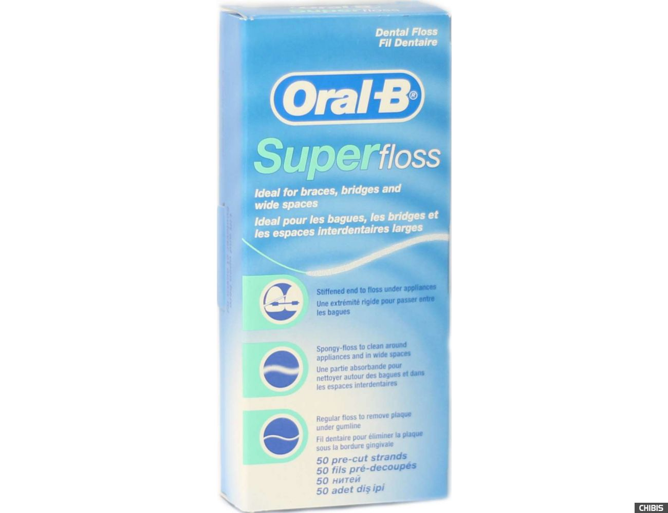 Нитка для зубов Oral-B Super Floss 50 шт.
